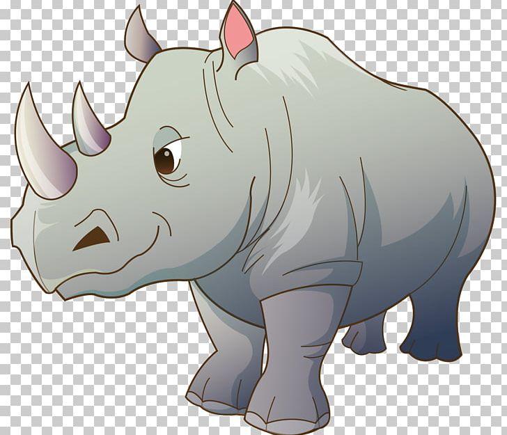Rhinoceros Cartoon PNG, Clipart, Animals, Art, Carnivoran, Cartoon.