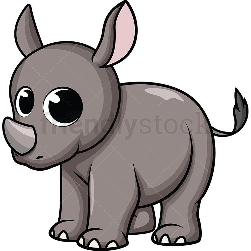 Cute Baby Rhino.