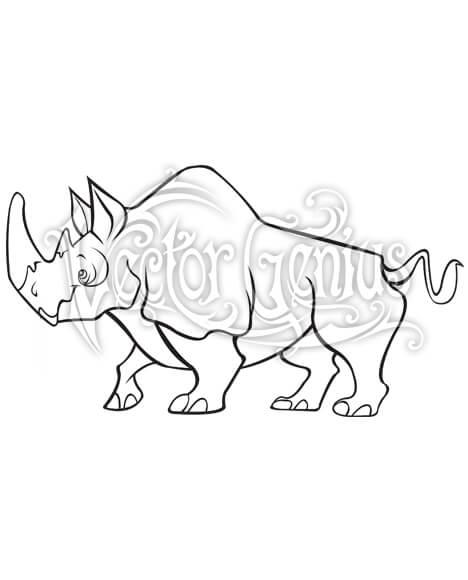 Cartoon Rhino ClipArt.