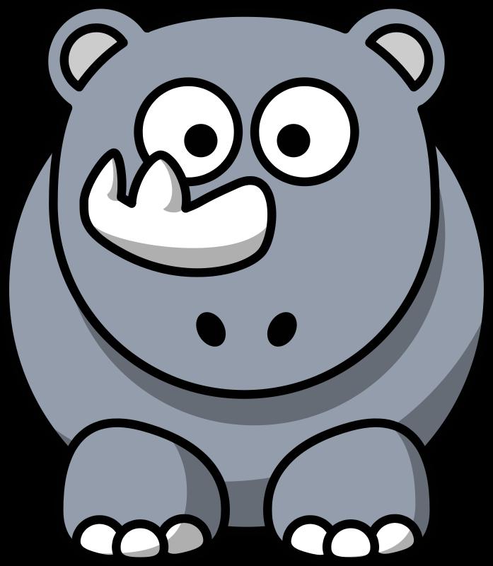 Free Clipart: Cartoon rhino.