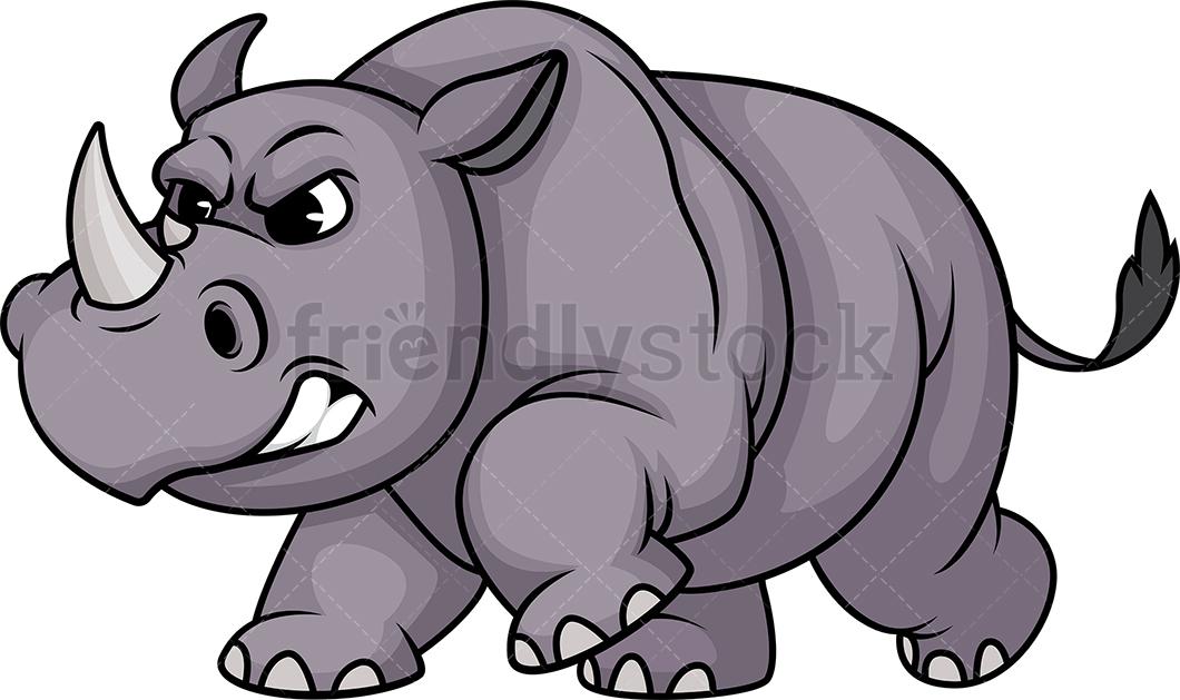 Charging Rhino.