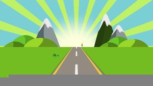 Cartoon Road Trip Clipart.