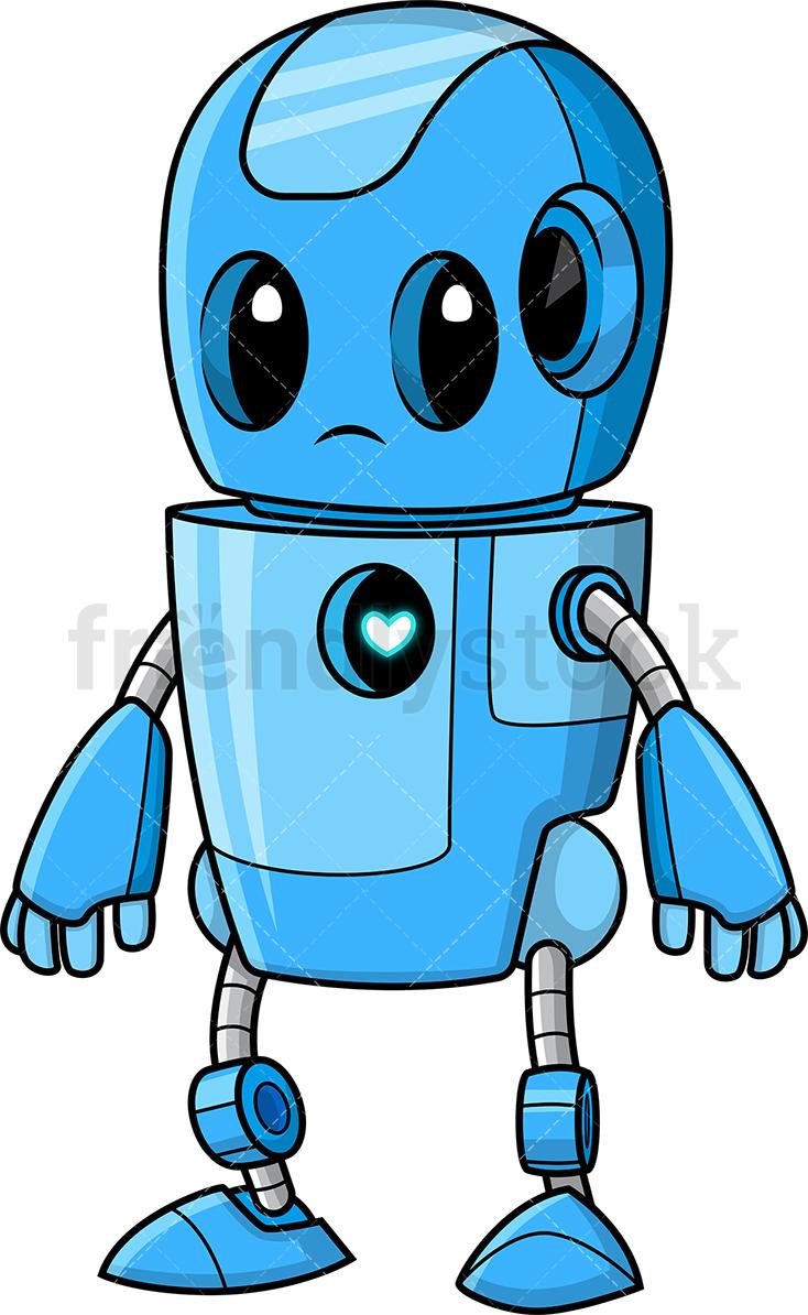 Cute Blue Robot.