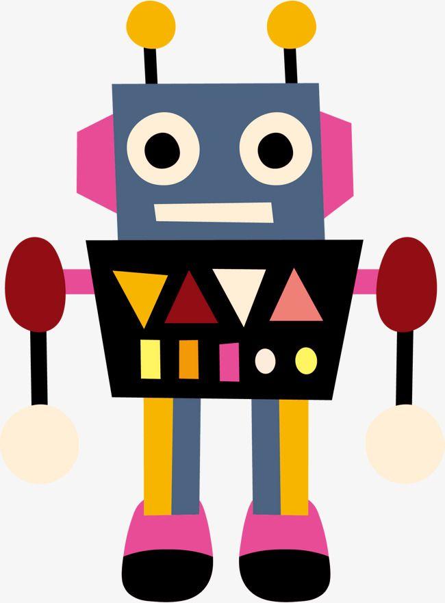 Cartoon Robot Vector.