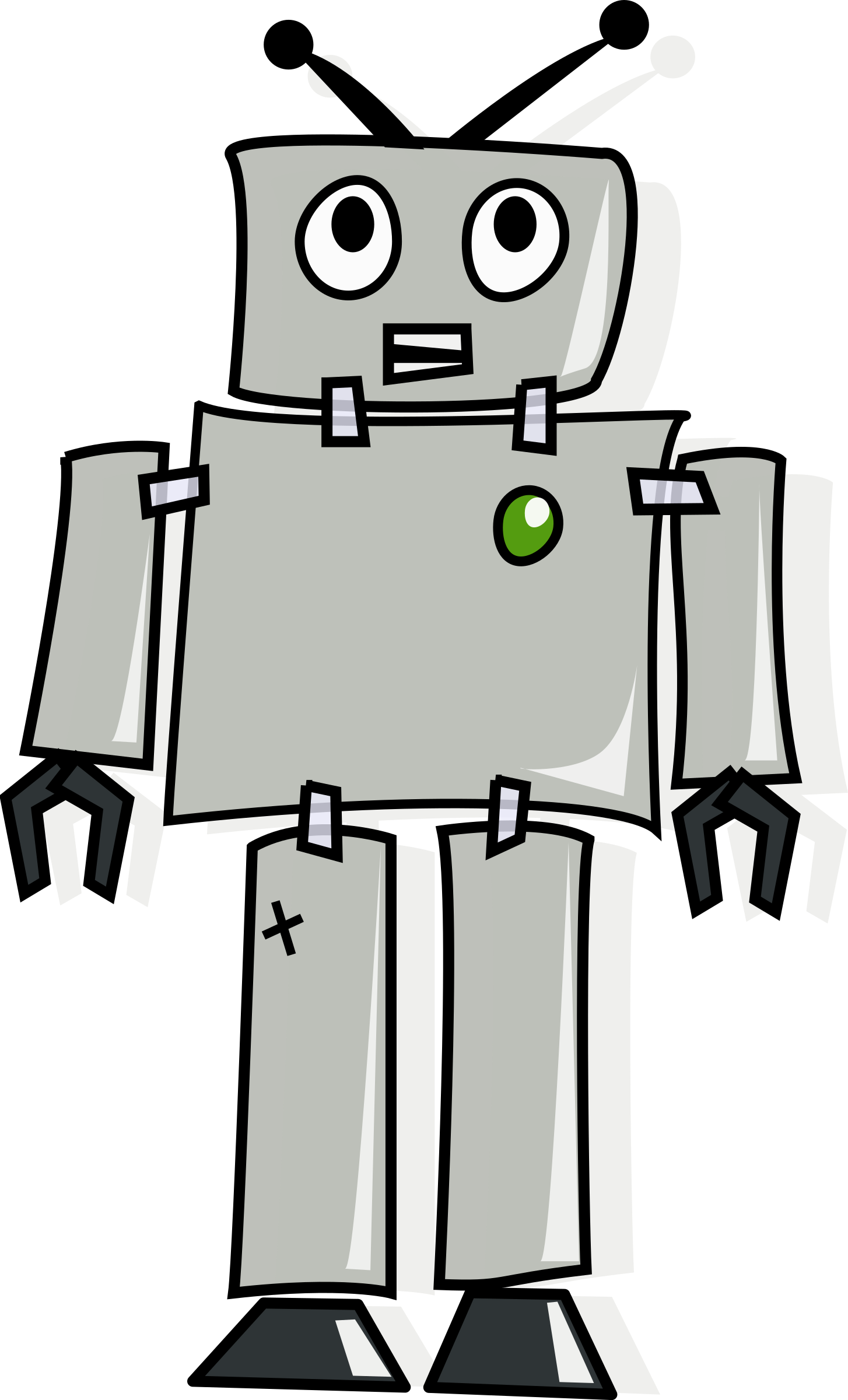 cartoon robot.