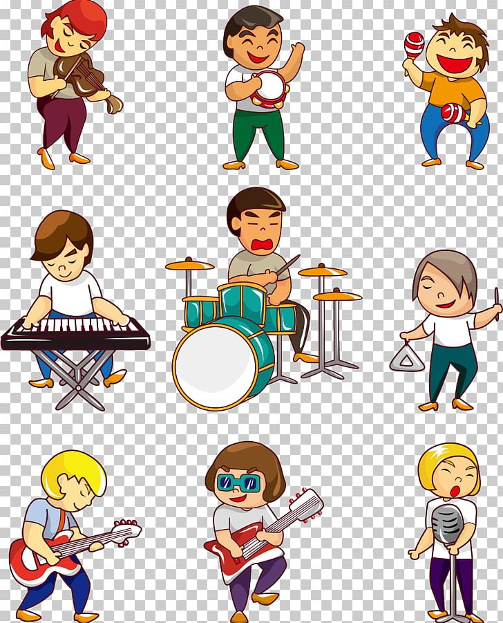 Rock Band Musical Ensemble Cartoon Marching Band PNG, Clipart, Boy.