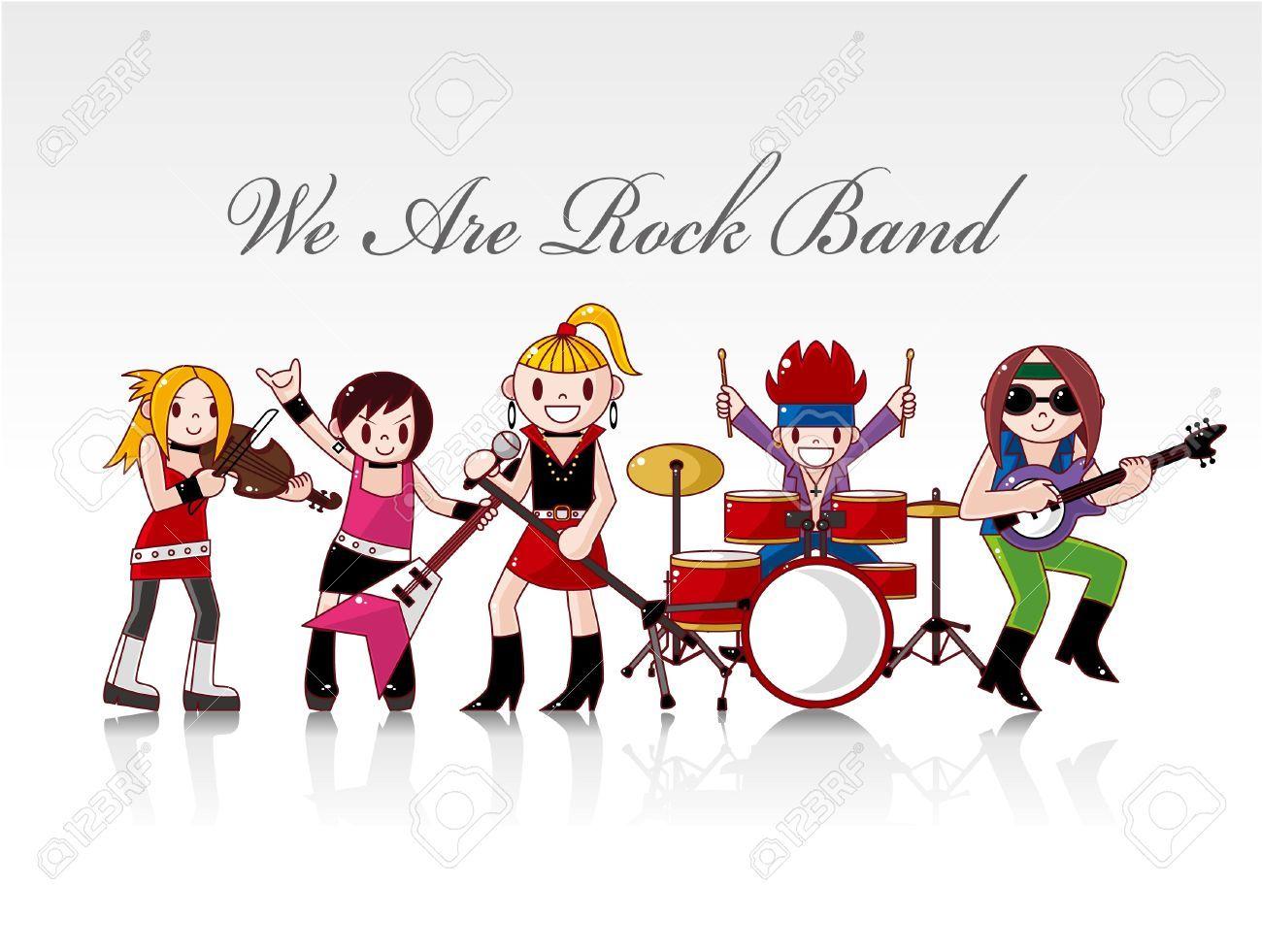 Cartoon rock band clipart 2 » Clipart Portal.
