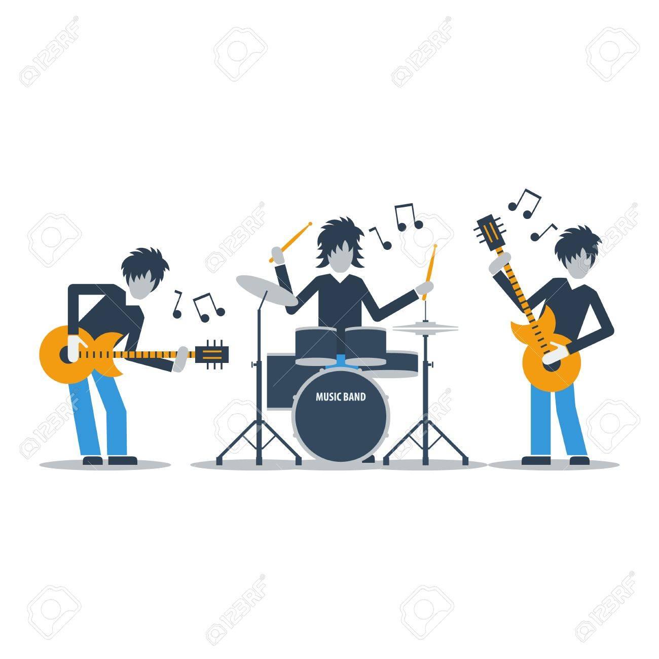 Rock music band.