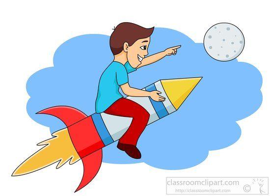 Cartoon rocket pics clipart.