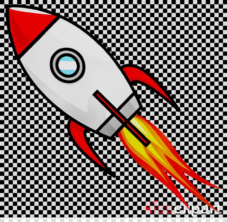 Cartoon Rocket clipart.