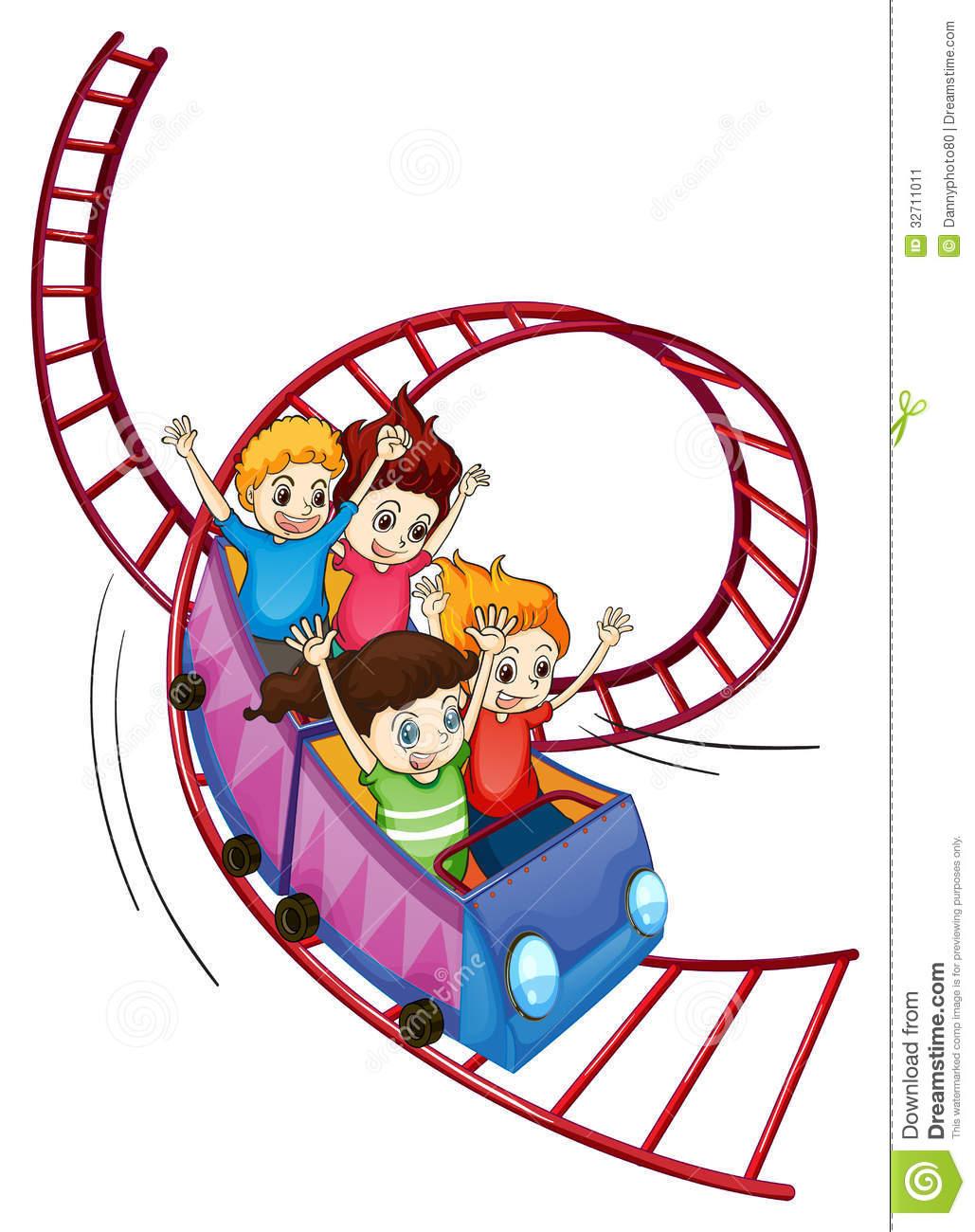 Roller Coaster Cartoon.