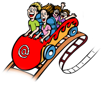 Cartoon Roller Coaster Clipart.