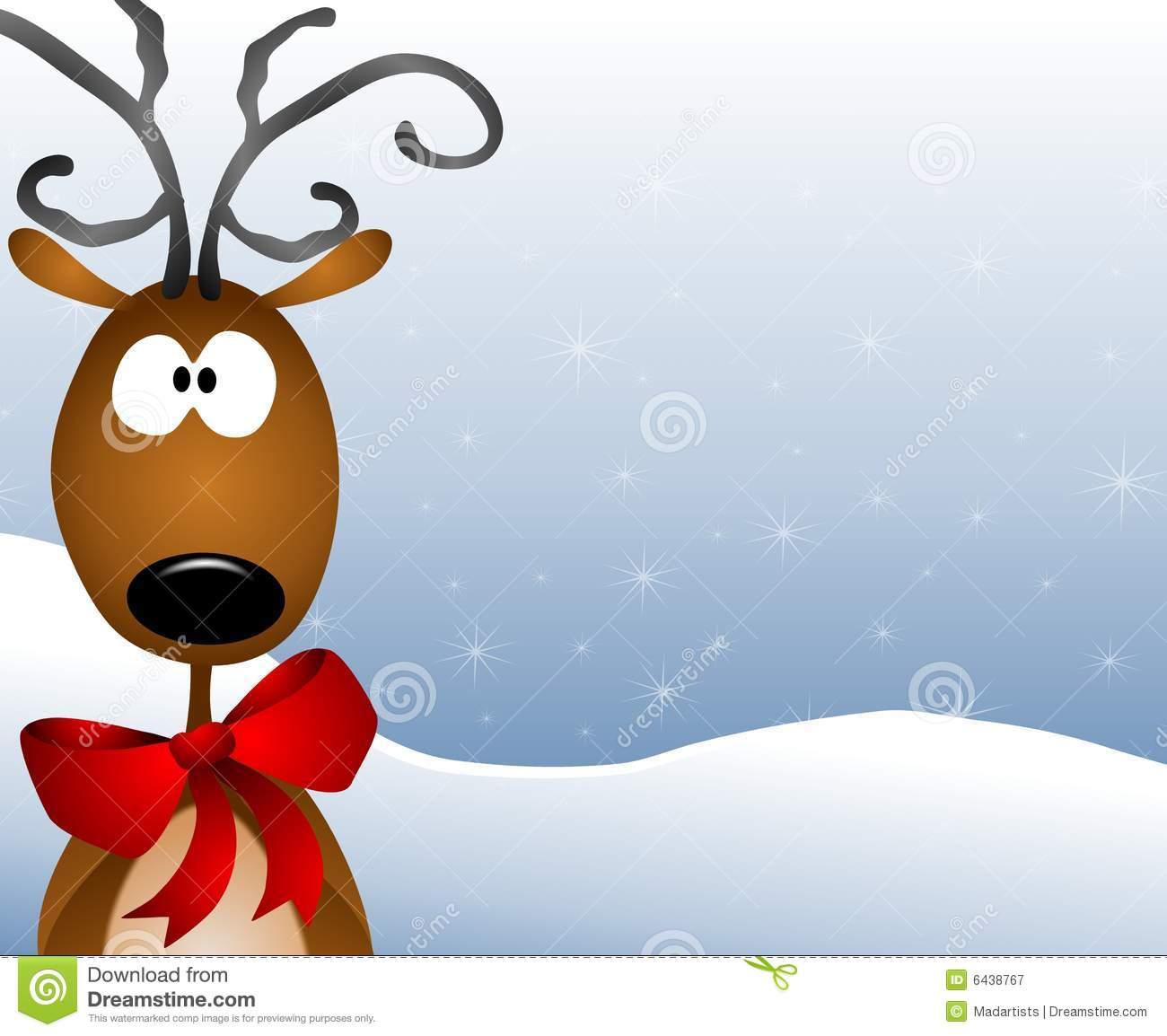 Cartoon Reindeer Background Stock Illustration.