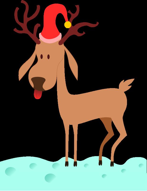 Free Clipart: A cartoon reindeer.