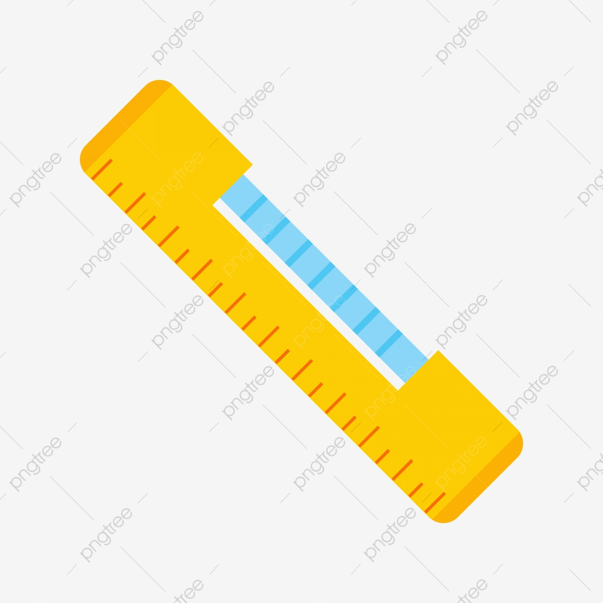 Cartoon Ruler Orange Ruler Illustration Wooden Ruler Home.