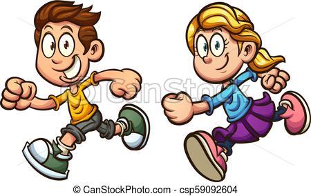 Running kids.