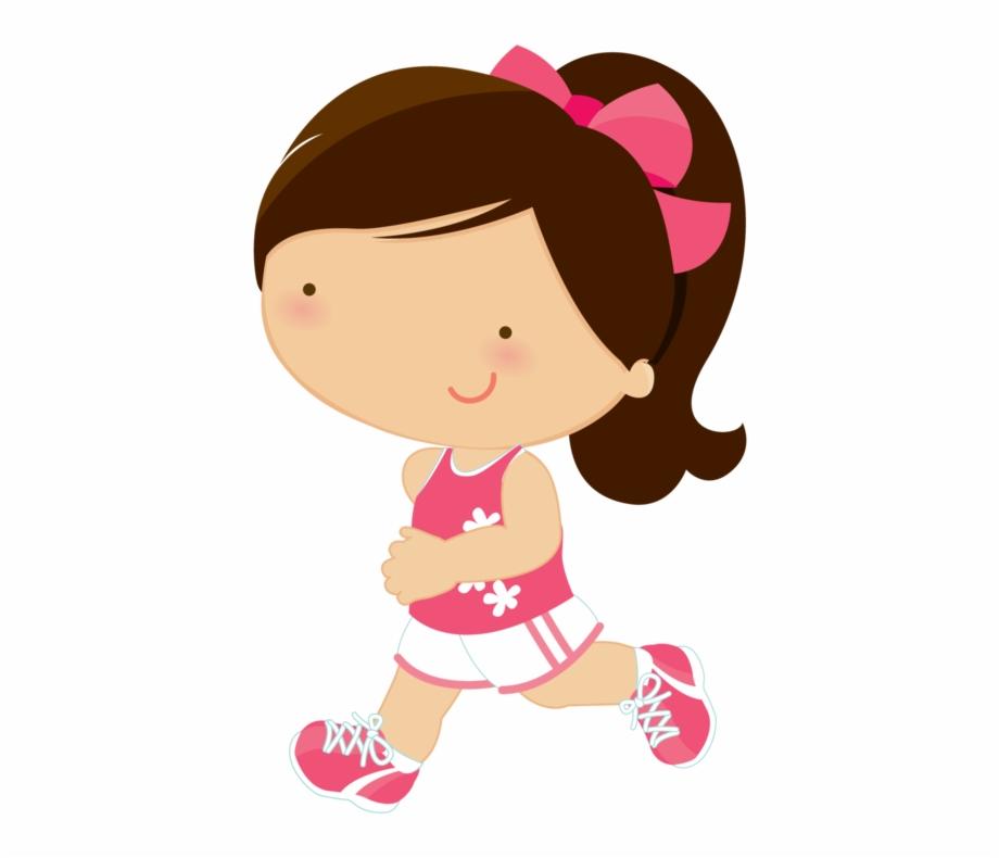 Running Cartoon, Running Club, Girl Running, Cute Clipart.