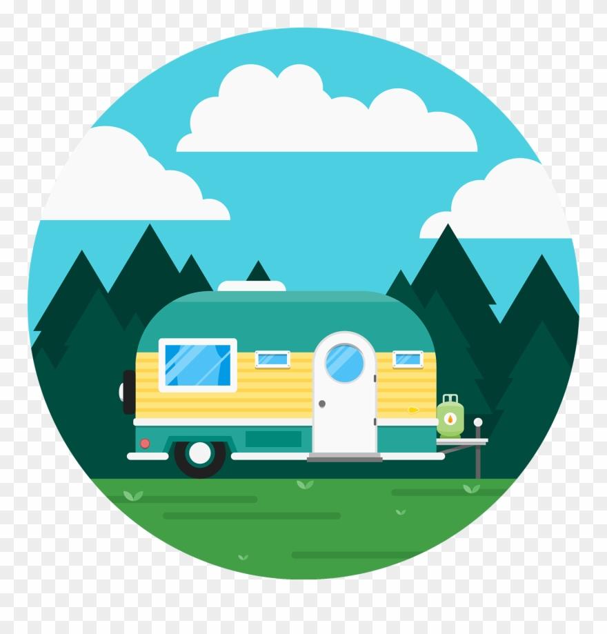 Caravan Recreational Vehicle Icon.