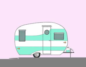 Cartoon Camper Clipart.