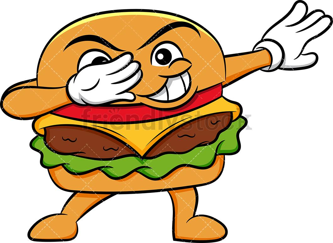 A Dabbing Hamburger Sandwich.