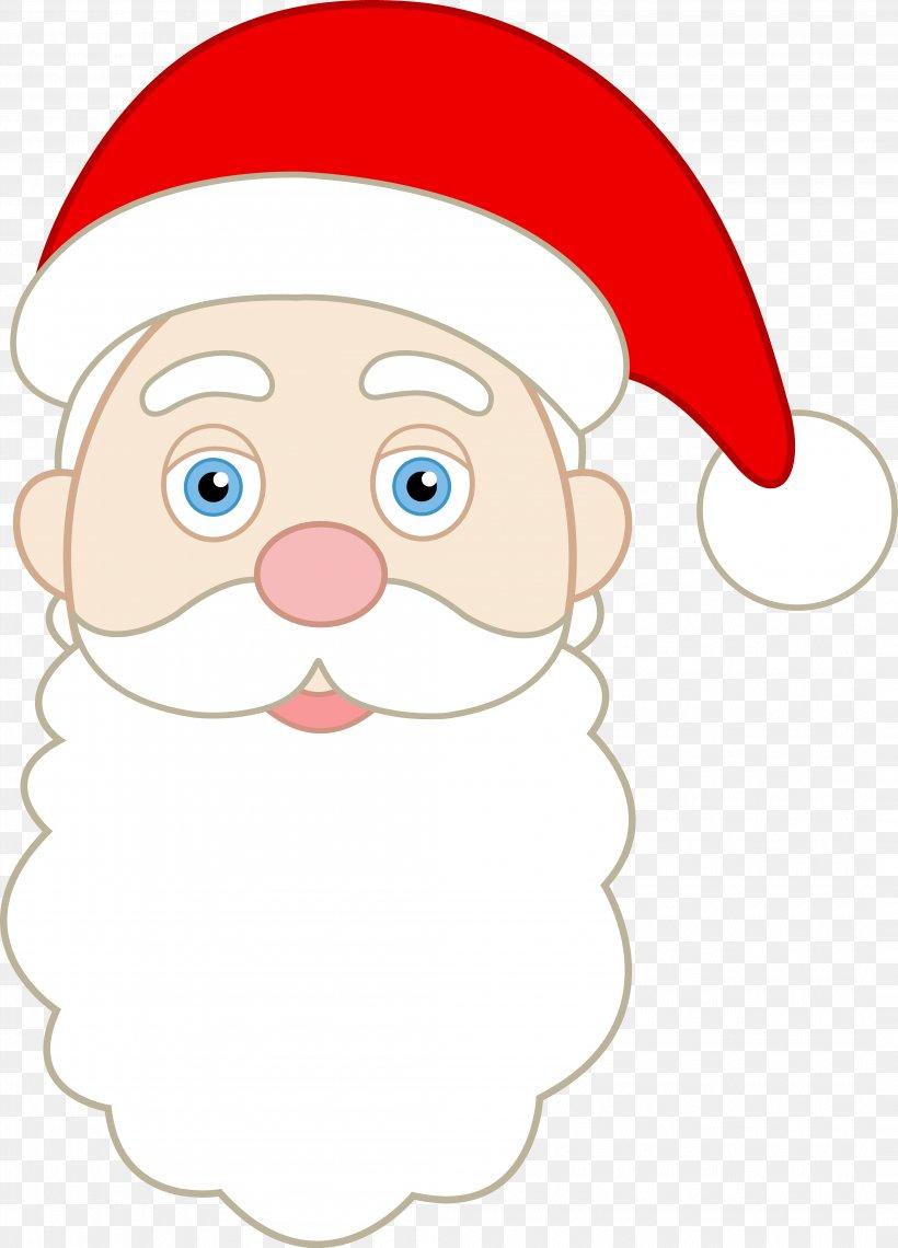 Santa Claus Face Smiley Clip Art, PNG, 4195x5835px, Santa.