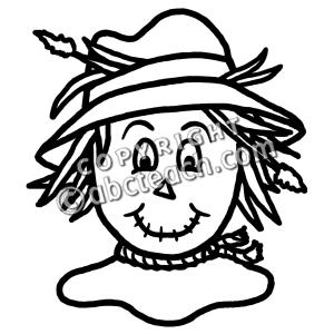Clip Art: Cartoon Scarecrow.