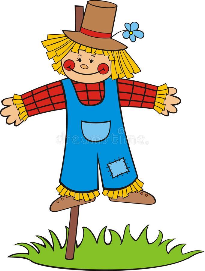 Cartoon Scarecrow Stock Illustrations.