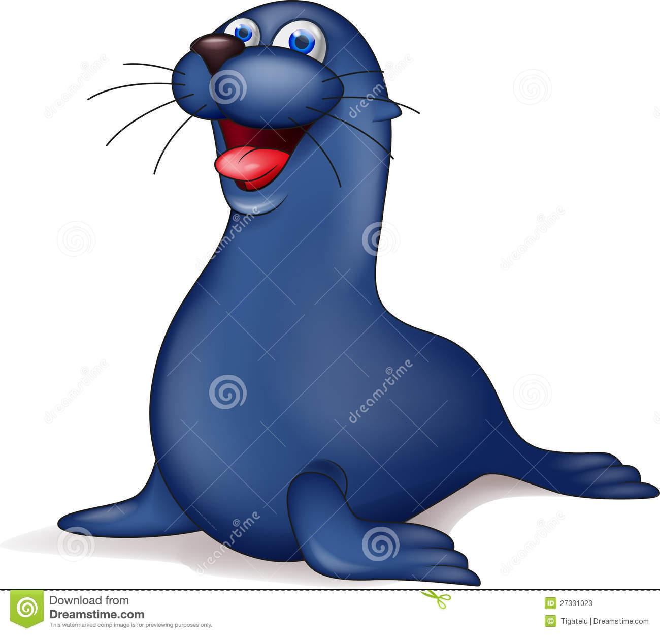 Seal cartoon stock vector. Illustration of funny, clipart.