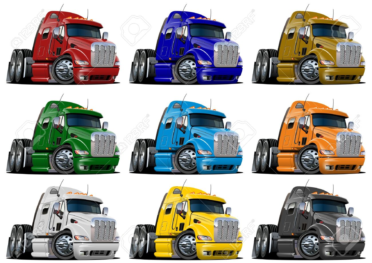 14,026 Cartoon Truck Stock Vector Illustration And Royalty Free.