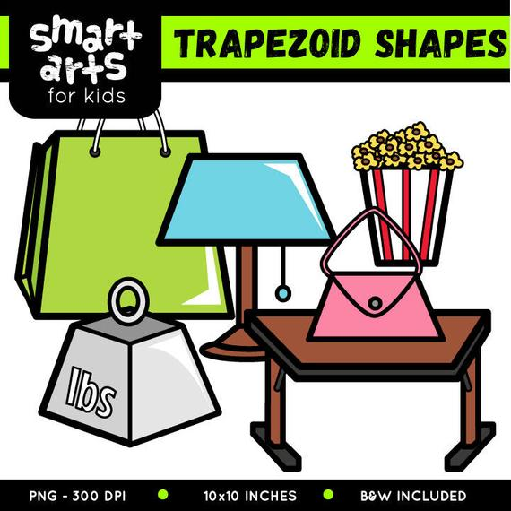 Trapezoid Shapes Clip Art.