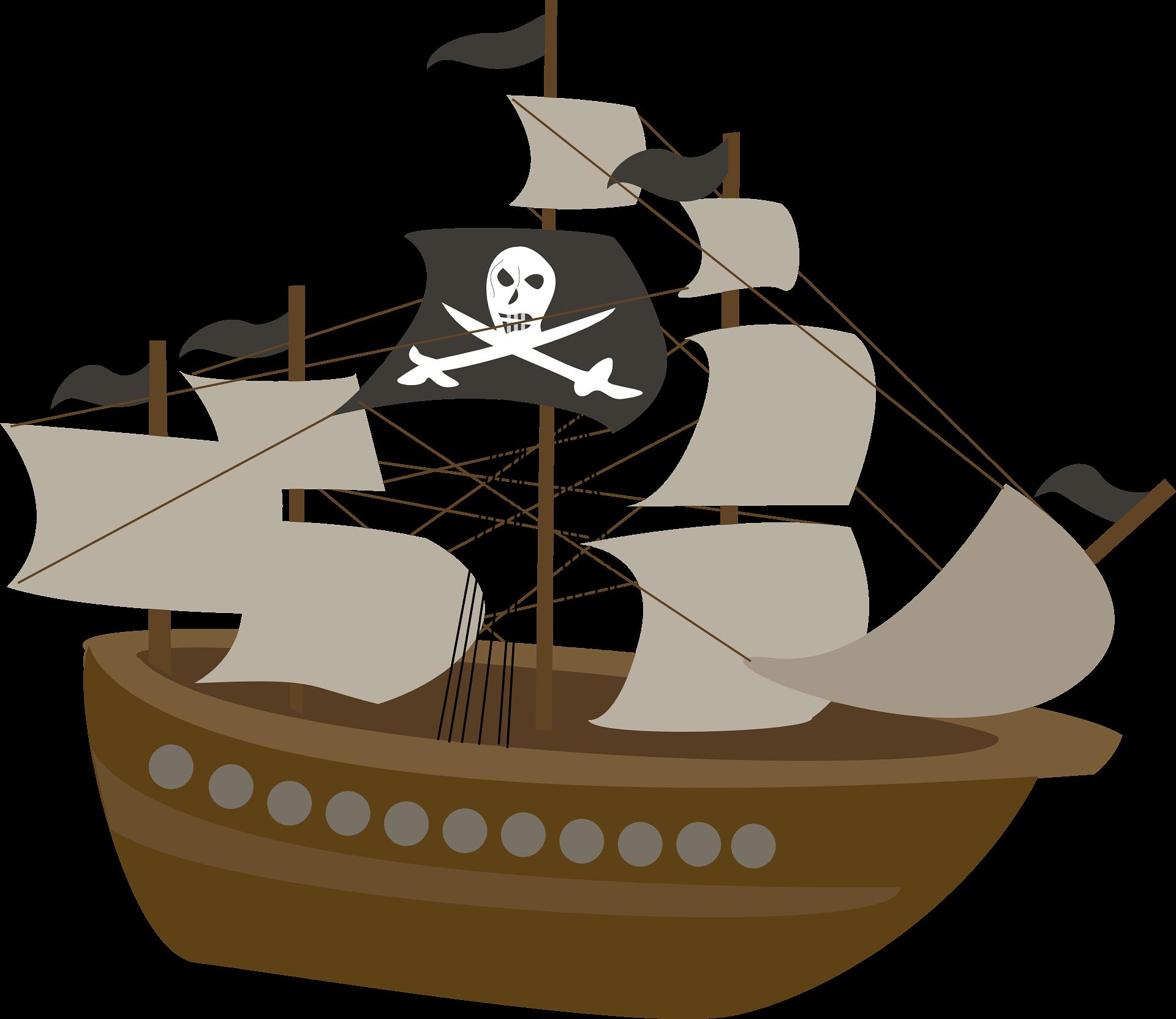 Ship Piracy Child Clip art.