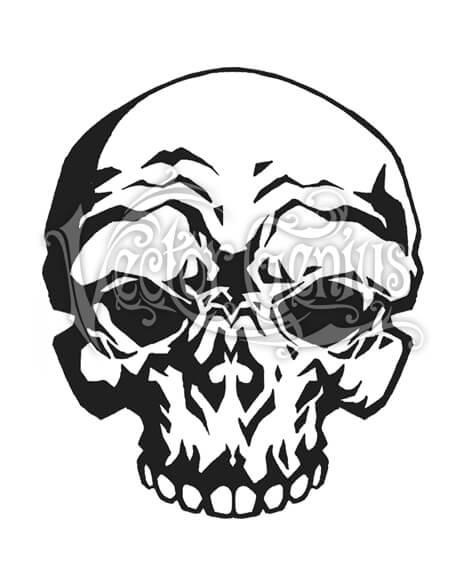Cartoon Skull Skeleton Clip Art.