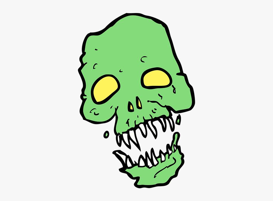 Scary Skeleton Skull Horror Human Head Zombie.