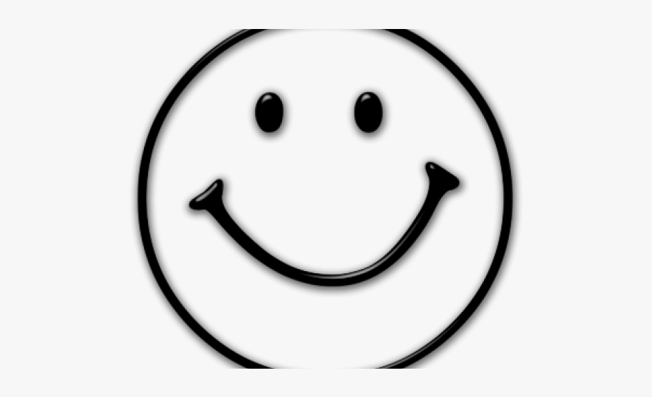 Smiley Face Clipart Black And White , Transparent Cartoon.