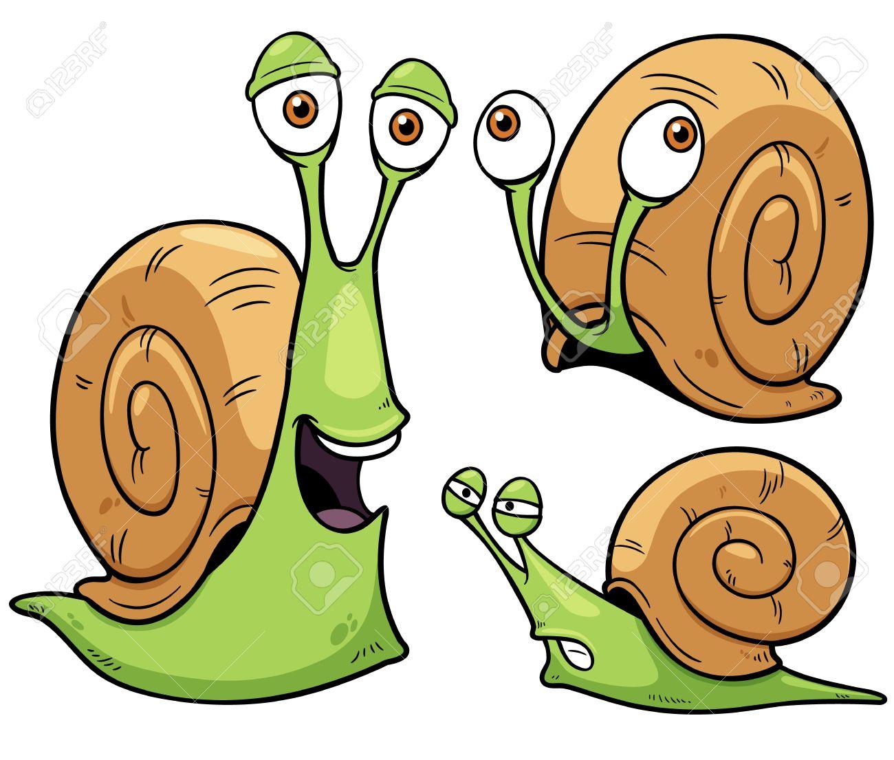 Vector illustration of Snail cartoon.