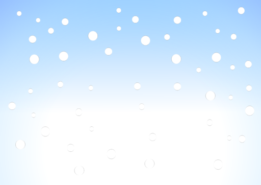 Snow falling cartoon light blue background with white bottom.