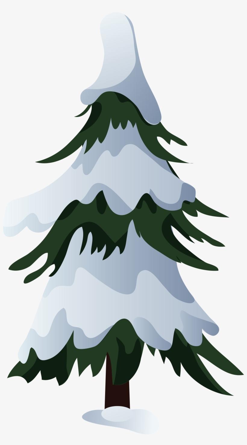 Snowy Pine Tree Png Clip Art.