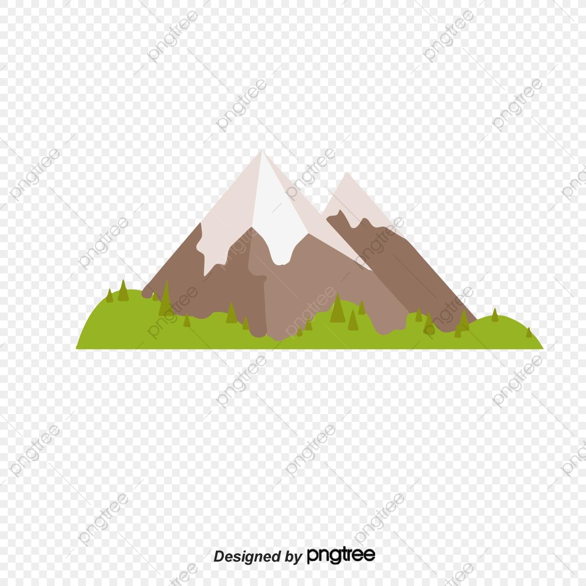 Cartoon Snow Mountain, Cartoon Clipart, Snow Mountain, Snow PNG.