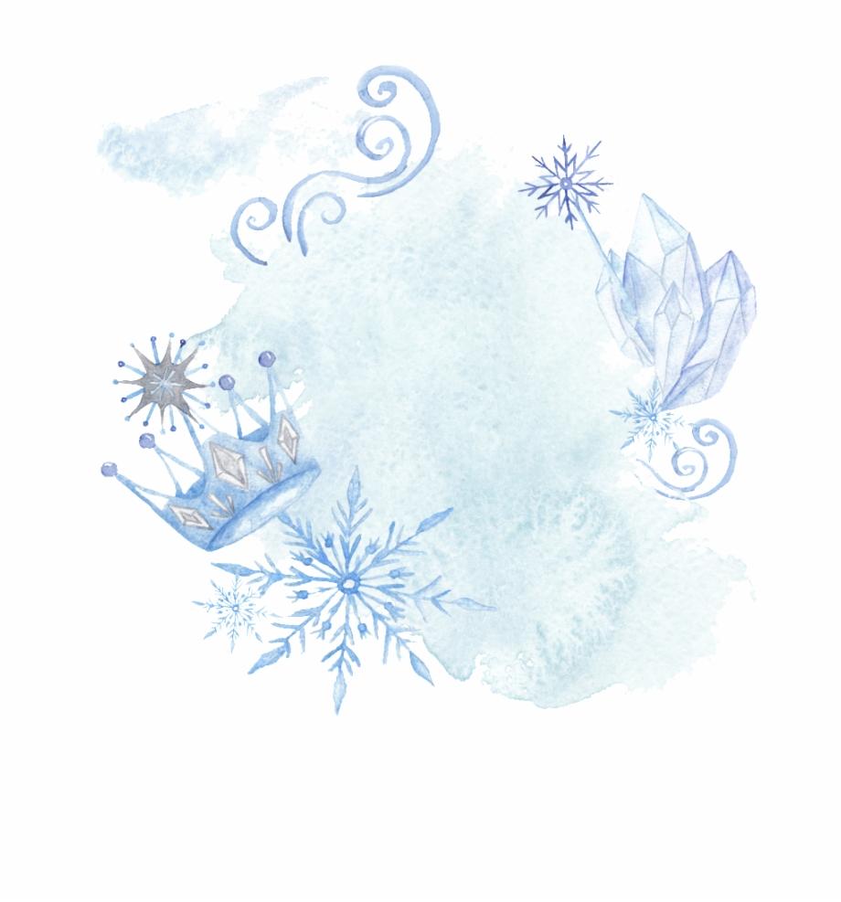 Blue Hand Drawn Crown Snowflake Cartoon Snow Transparent.