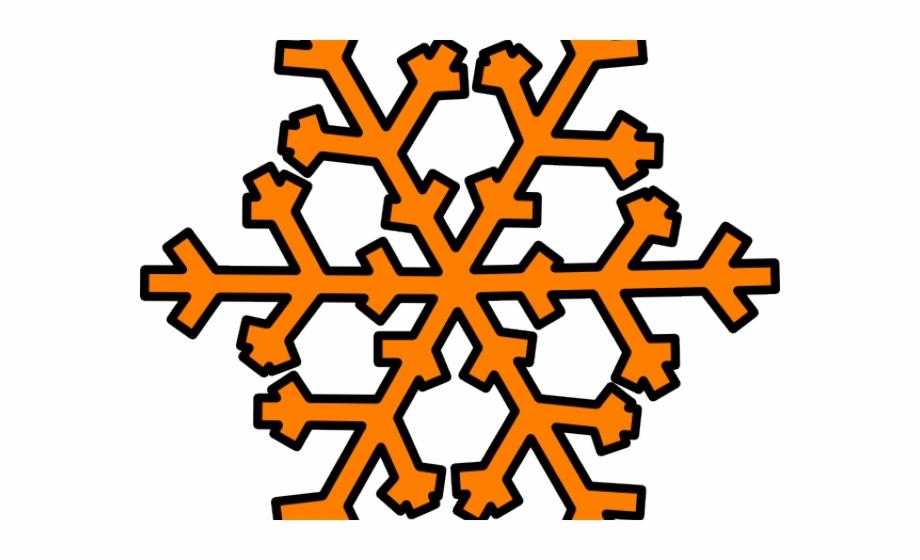 Snowflake Clipart Orange.