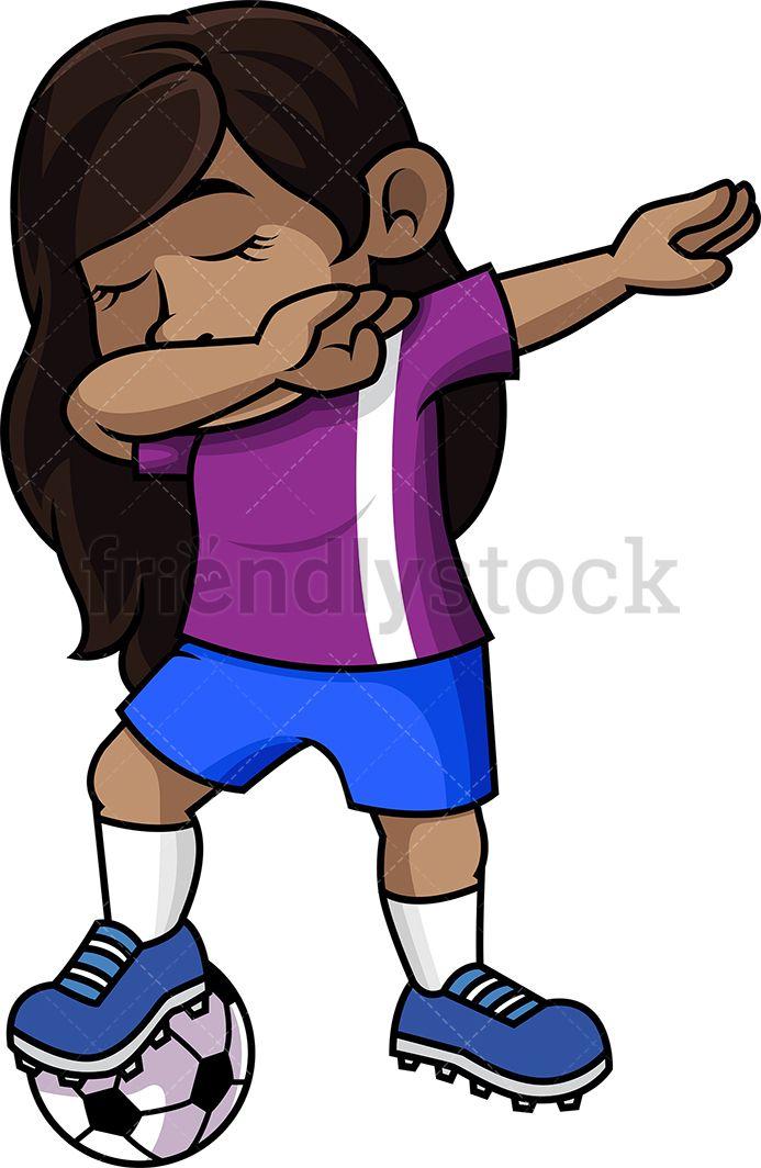 Black Soccer Girl Dabbing.