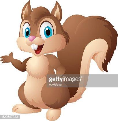 Cartoon squirrel Clipart Image.