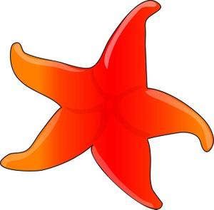 Cartoon Starfish Clipart.