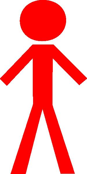 Stick Man Red Clip Art at Clker.com.