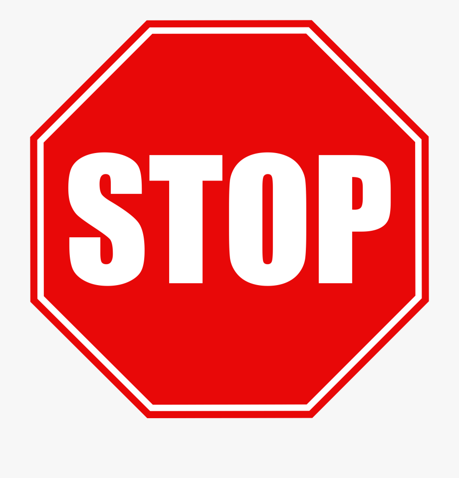 Black And White Stop Sign Clipart.