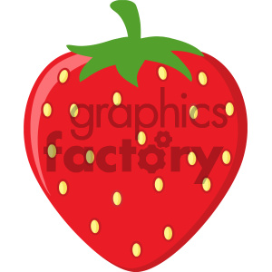 Royalty Free RF Clipart Illustration Strawberry Fruit Cartoon Drawing Flat  Design Vector Illustration Isolated On White Background clipart..