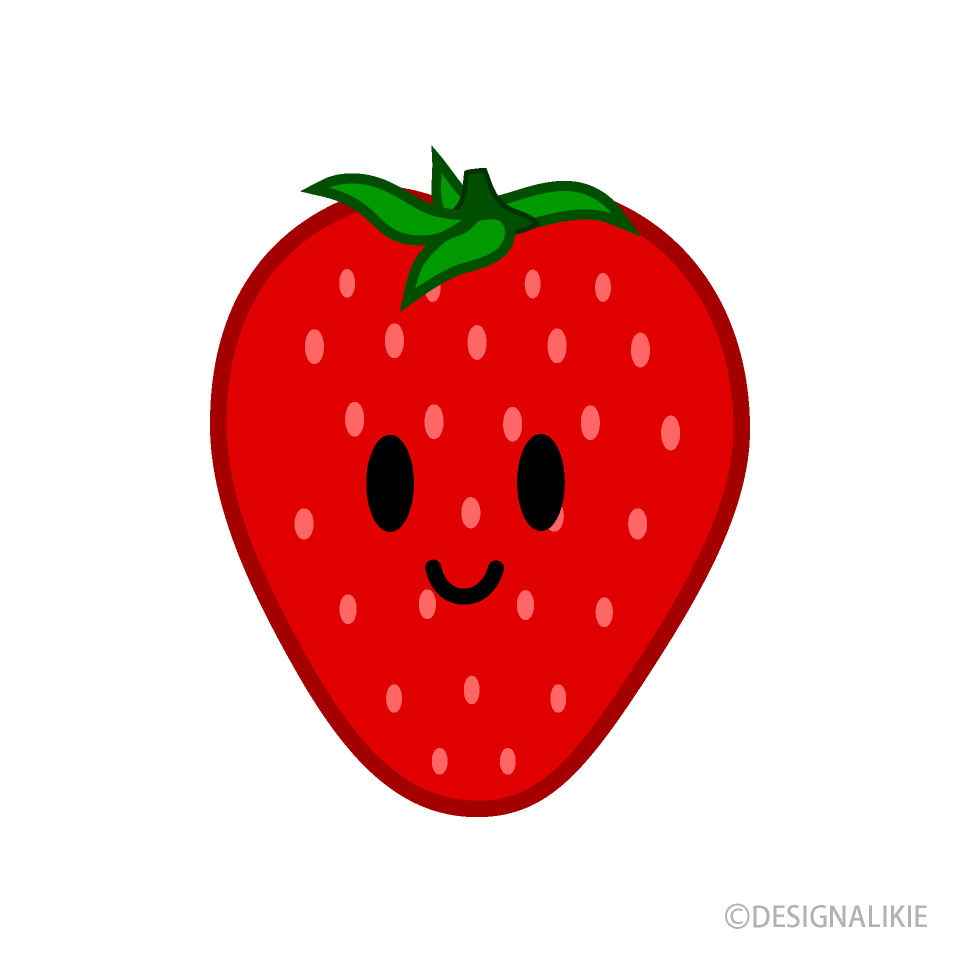 Free Cute Strawberry Clipart Image|Illustoon.