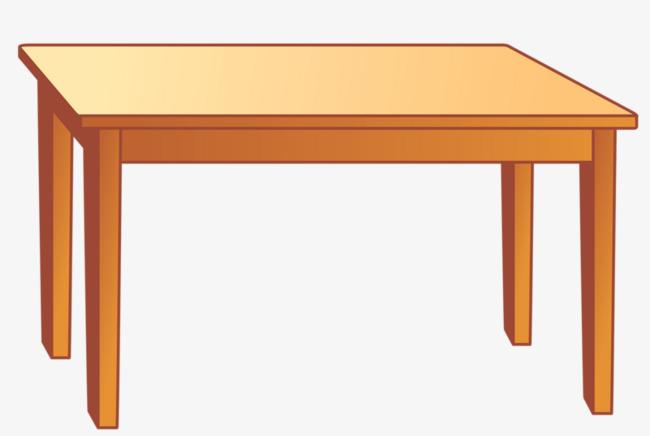Cartoon Decoration, Cartoon Clipart, Table, Four Legs PNG.