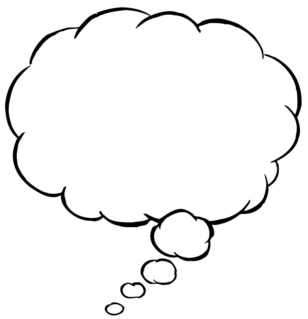 Cartoon Thinking Bubbles.