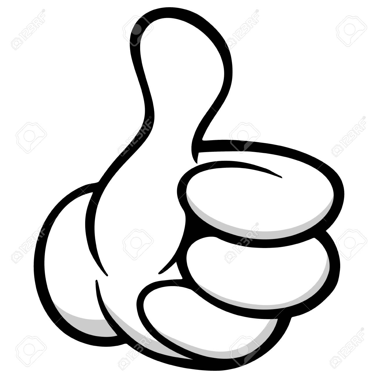Thumbs Up Cartoon Hand.